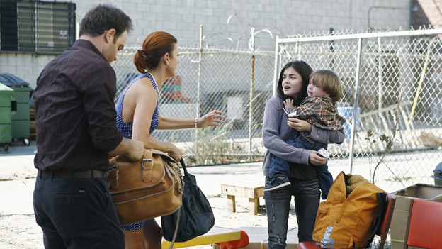 "PRIVATE PRACTICE - ""Pushing the Limits"" - Addison, Sam and Cooper treat the sick child of a homeless teen mother they met while volunteering. Meanwhile Violet has trouble relating to her baby when her feelings about her attack resurface during counseling of a rape victim who is now pregnant, and Cooper's financial woes catch up with him when he's asked to help buy out Naomi's share of the practice, on ""Private Practice,"" THURSDAY, OCTOBER 22 (10:01-11:00 p.m., ET) on the ABC Television Network. (ABC/ADAM LARKEY)PAUL ADELSTEIN, KATE WALSH, LUCY HALE"