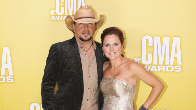 "THE 46TH ANNUAL CMA AWARDS - RED CARPET ARRIVALS - ""The 46th Annual CMA Awards"" airs live THURSDAY, NOVEMBER 1 (8:00-11:00 p.m., ET) on ABC live from the Bridgestone Arena in Nashville, Tennessee. (ABC/SARA KAUSS)JASON ALDEAN"