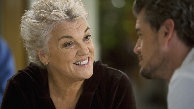 "GREY'S ANATOMY - ""Sympathy for the Devil"" - Derek's mother, Carolyn, suspects that Mark is hiding something and gets him to admit to his affair with Lexie Grey, on ""Grey's Anatomy,"" THURSDAY, JANUARY 15 (9:00-10:01 p.m., ET) on the ABC Television Network. (ABC/RANDY HOLMES) TYNE DALY, ERIC DANE"