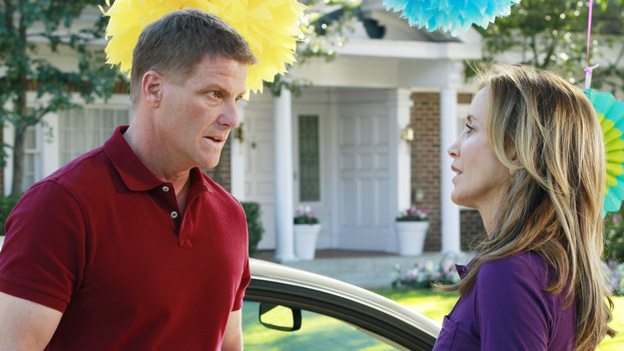 "DESPERATE HOUSEWIVES - ""You Take for Granted"" - Susan convinces Mike to go to the police when she discovers that Ben's loanshark is out to get him; Gaby is justifiably concerned when Carlos exhibits some strange behavior on his first day back to work; Tom's girlfriend, Jane, drops a bombshell on Lynette during Penny's birthday party; and Mrs. McCluskey, who is suffering from terminal cancer, asks Bree to help put an end to her life, on ""Desperate Housewives,"" SUNDAY, MARCH 11 (9:00-10:01 p.m., ET) on the ABC Television Network. (ABC/RON TOM)DOUG SAVANT, FELICITY HUFFMAN"