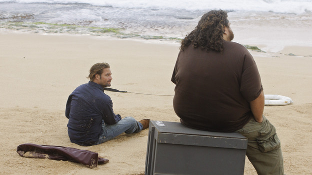 "LOST - ""What They Died For"" - While Locke devises a new strategy, Jack's group searches for Desmond, on ""Lost,"" TUESDAY, MAY 18 (9:00-10:02 p.m., ET) on the ABC Television Network. (ABC/MARIO PEREZ)JOSH HOLLOWAY, JORGE GARCIA"