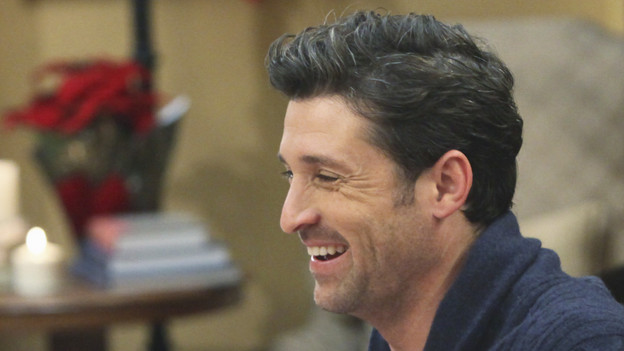GREY'S ANATOMY - &quot;Holidaze&quot; -- As Thanksgiving, Christmas and New Year's pass, Miranda is visited by her father, William, who disapproves of her choices in life; meanwhile, Mark and Lexie must cope with the shocking arrival of a woman from his past, and Thatcher Grey questions the Chief's recent behavior as Meredith comes to his defense, on &quot;Grey's Anatomy,&quot; THURSDAY, NOVEMBER 19 (9:00-10:01 p.m., ET) on the ABC Television Network. (ABC/DANNY FELD)PATRICK DEMPSEY