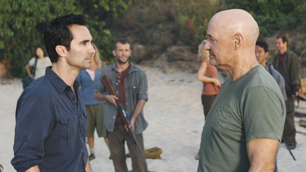 LOST - &quot;LA X&quot; - &quot;Lost&quot; returns for its final season of action-packed mystery and adventure -- that will continue to bring out the very best and the very worst in the people who are lost -- on the season premiere of &quot;Lost,&quot; TUESDAY, FEBRUARY 2 (9:00-11:00 p.m., ET) on the ABC Television Network. On the season premiere episode, &quot;LA X&quot; Parts 1 &amp; 2, the aftermath from Juliet's detonation of the hydrogen bomb is revealed. (ABC/MARIO PEREZ)NESTOR CARBONELL, TERRY O'QUINN