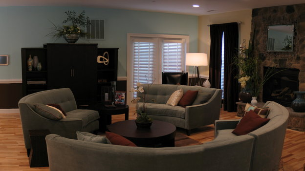 "EXTREME MAKEOVER HOME EDITION - ""Ginyard Family,"" - Living Room, on ""Extreme Makeover Home Edition,"" Sunday, October 30th on the ABC Television Network."