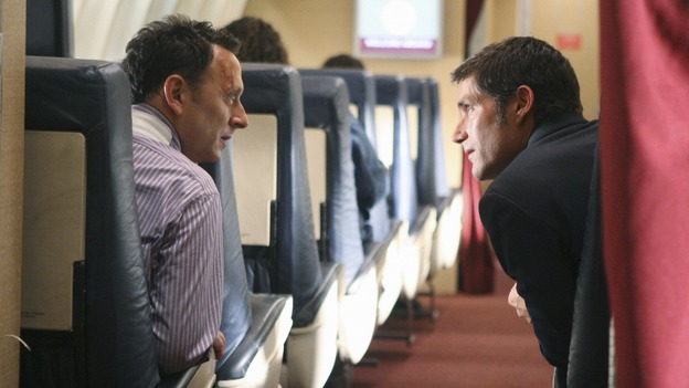 "LOST - ""316"" - Ben and Jack attempt to return to the island by boarding Ajira Flight 316, on ""Lost,"" WEDNESDAY, FEBRUARY 18 on the ABC Television Network. MICHAEL EMERSON, MATTHEW FOX"