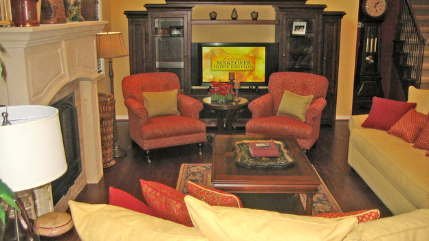 EXTREME MAKEOVER HOME EDITION - &quot;Gilliam Family,&quot; - Living Room, on &quot;Extreme Makeover Home Edition,&quot; Sunday, October 1st on the ABC Television Network.