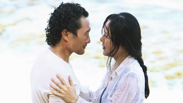 "LOST - ""The Last Recruit"" - Alliances are forged and broken as the Locke and Jack camps merge, on ""Lost,"" TUESDAY, APRIL 20 (9:00-10:02 p.m., ET) on the ABC Television Network. (ABC/MARIO PEREZ) DANIEL DAE KIM, YUNJIN KIM"