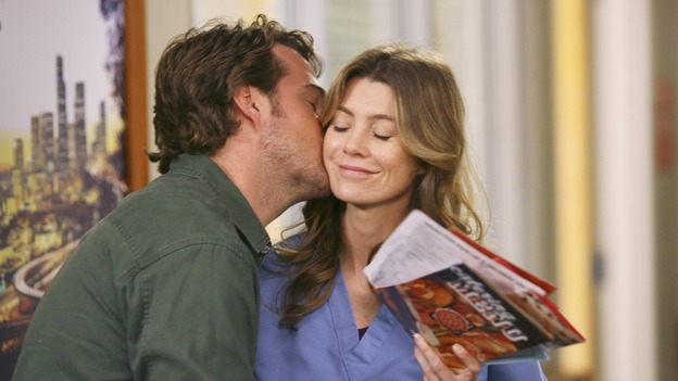 "GREY'S ANATOMY - In the first hour of part two of the season finale of ABC's ""Grey's Anatomy"" -- ""Deterioration of the Fight or Flight Response"" -- Izzie and George attend to Denny as the pressure increases to find him a new heart, Cristina suddenly finds herself in charge of an ER, and Derek grapples with the realization that the life of a friend is in his hands. In the second hour, ""Losing My Religion,"" Richard goes into interrogation mode about a patient's condition, Callie confronts George about his feelings for her, and Meredith and Derek meet about Doc. Part two of the season finale of ""Grey's Anatomy"" airs MONDAY, MAY 15 (9:00-11:00 p.m., ET) on the ABC Television Network. (ABC/SCOTT GARFIELD)CHRIS O'DONNELL, ELLEN POMPEO"