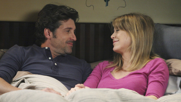 "GREY'S ANATOMY - ""Start Me Up"" - Arizona seeks Mark's advice as she tries to reconcile with Callie, who has big news of her own; Teddy must make a key decision for Henry during his surgery; and on the same day the residents receive a new crop of interns, the Chief announces he is looking for a new Chief Resident, on ""Grey's Anatomy,"" THURSDAY, JANUARY 13 (9:00-10:01 p.m., ET) on the ABC Television Network. (ABC/DANNY FELD)PATRICK DEMPSEY, ELLEN POMPEO"