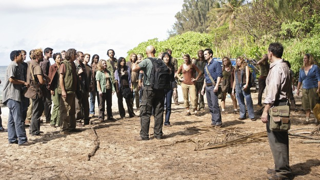 "LOST - ""Follow the Leader"" - Jack and Kate find themselves at odds over the direction to take to save their fellow island survivors, Locke further solidifies his stance as leader of ""The Others,"" and Sawyer and Juliet come under scrutiny from the Dharma Initiative, on ""Lost,"" WEDNESDAY, MAY 6 (9:00-10:02 p.m., ET) on the ABC Television Network.  (ABC/MARIO PEREZ)TERRY O'QUINN, YUNJIN KIM, NESTOR CARBONELL, MICHAEL EMERSON"