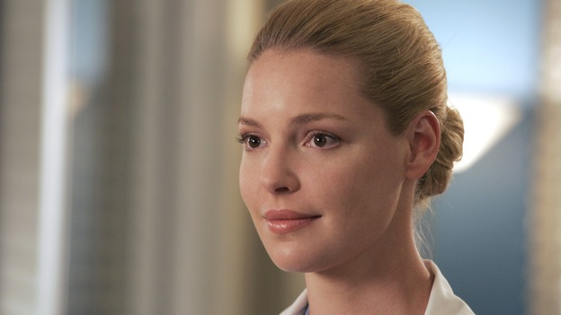 "GREY'S ANATOMY - ""Time After Time"" - Izzie faces her past and finds comfort in George, while Alex becomes more attached to Jane Doe (Elizabeth Reaser), Meredith and Derek question their own status, and Cristina resolves to fight for her relationship with Burke -- despite her past with Colin Marlow (Roger Rees) -- on ""Grey's Anatomy,"" THURSDAY, APRIL 19 (9:00-10:01 p.m., ET) on the ABC Television Network. (ABC/VIVIAN ZINK)KATHERINE HEIGL"
