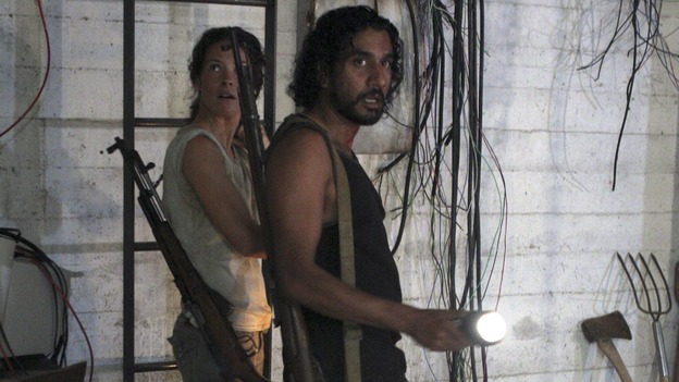 "LOST - ""Enter 77"" - Locke, Sayid and Kate investigate a strange structure and its mysterious inhabitant. Meanwhile, Sawyer competes in a ping-pong competition to get back his belongings, on ""Lost,"" WEDNESDAY, MARCH 7 (10:00-11:00 p.m., ET), on the ABC Television Network. (ABC/MARIO PEREZ)EVANGELINE LILLY, NAVEEN ANDREWS"