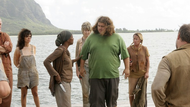 "LOST -- ""Live Together, Die Alone"" - Hurley is set free as Bea and the Others hold Jack and his party hostage, on the season finale of ""Lost,"" WEDNESDAY, MAY 24 (9:00-11:00 p.m., ET), on the ABC Television Network. (ABC/MARIO PEREZ) APRIL GRACE, JORGE GARCIA"
