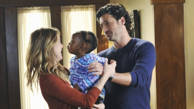 "GREY'S ANATOMY - ""Suddenly"" - A severe car crash involving an entire family results in an all-hands-on situation in the ER, as the eldest daughter is left to make the toughest decision of her life. Meanwhile Teddy, still in the dark about Henry's death, calls upon Cristina to help with her patient in the O.R., and Lexie finds herself working alongside Mark's new girlfriend, Julia, during an eye surgery on Grey's Anatomy, THURSDAY, JANUARY 5 (9:00-10:02 p.m., ET) on the ABC Television Network. (ABC/RICHARD FOREMAN)ELLEN POMPEO, PATRICK DEMPSEY"