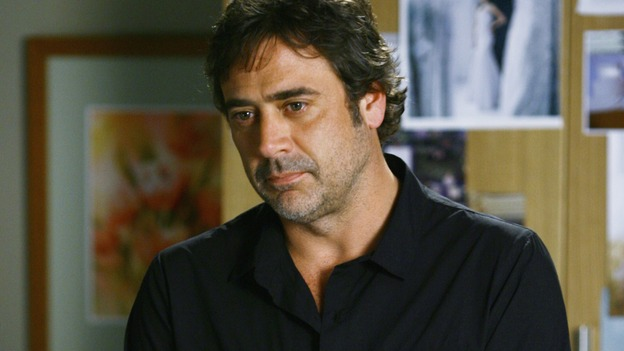 "GREY'S ANATOMY - ""What a Difference a Day Makes"" - Denny suddenly reappears to Izzie, telling her that cancer has once again spread to her brain, on ""Grey's Anatomy,"" THURSDAY, MAY 7 (9:00-10:02 p.m., ET) on the ABC Television Network. (ABC/SCOTT GARFIELD) JEFFREY DEAN MORGAN"
