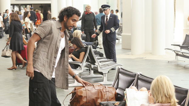 "LOST - ""Exodus"" - Sayid and Shannon at the airport, on ""Lost,"" on THURSDAY, MAY 18 on the ABC Television Network. (ABC/MARIO PEREZ) NAVEEN ANDREWS, MAGGIE GRACE"
