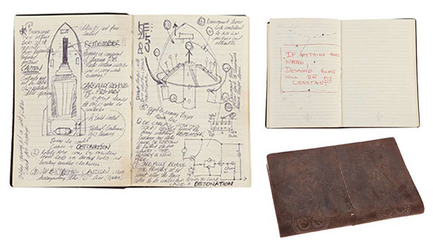 "Daniel Faraday's journal with extensive handwritten notes from his time travel experiments Leather-bound journal in whichFaraday keeps extensive notes of his time travel experiments. After graduating from a doctoral program at Oxford University, Faraday's mother, EloiseHawking, gives him this journal. Within are the clues that Faraday leaves for himself to help him find his constant to which his consciousness can anchorto while it slips through time.Related content:EPISODE RECAP - ""The Constant"""