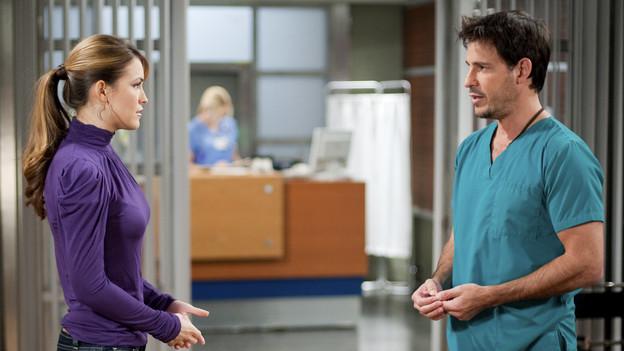 Chrishell Stause as Amanda Dillon and Ricky Paull Goldin as Jake Martin