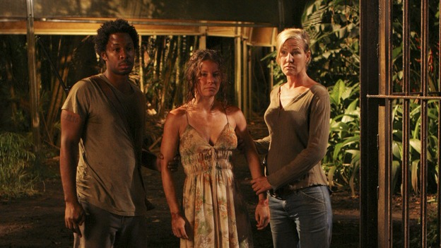 "LOST - ""The Glass Ballerina"" - Sayid's plan to locate Jack places Sun and Jin's lives in grave danger. Meanwhile, Kate and Sawyer are forced to work in harsh conditions by their captors, and Henry makes a very tempting offer to Jack that may prove difficult to refuse, on ""Lost,"" WEDNESDAY, OCTOBER 18 (9:00-10:00 p.m., ET), on the ABC Television Network. (ABC/MARIO PEREZ)EVANGELINE LILLY"