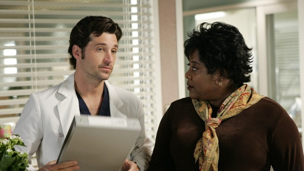 "103276_6544 -- GREY'S ANATOMY - ""ENOUGH IS ENOUGH"" (ABC/CRAIG SJODIN)PATRICK DEMPSEY, LORETTA DIVINE"