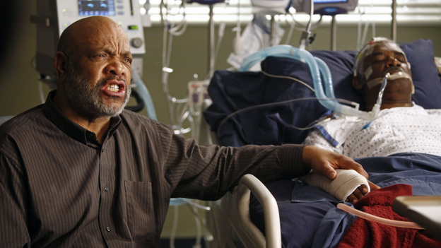 GREY'S ANATOMY - &quot;One Step Too Far&quot; - Derek encourages a hesitant Meredith to work with him again in neurology; Jackson's mother, Catherine Avery, returns to Seattle Grace with a urology fellow and develops an interest in Richard; and Cristina becomes increasingly suspicious of Owen's every move. Meanwhile, Alex tries to deny the fact that Morgan may be falling for him, on &quot;Grey's Anatomy,&quot; THURSDAY, MARCH 15 (9:00-10:02 p.m., ET) on the ABC Television Network. (ABC/VIVIAN ZINK)JAMES AVERY