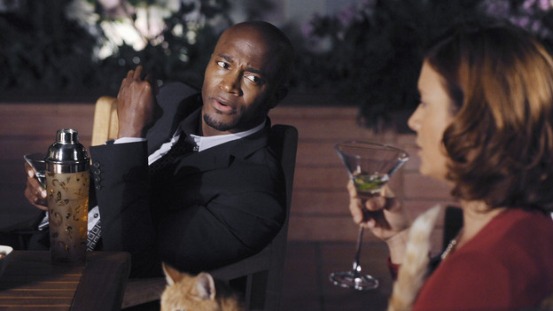 "PRIVATE PRACTICE - ""Blowups"" - Two back-to-back episodes of ""Private Practice"" air on THURSDAY, DECEMBER 3. In the second episode, ""Blowups"" (10:00-11:00 p.m.), a terrible explosion at Dell's house lands Betsey and Heather in the hospital, and everyone is pushed to the limit trying to save their lives. Tensions rise even higher between Addison and The Captain when her mother, Bizzy, shows up and a shocking family secret is revealed. (ABC/ERIC MCCANDLESS)TAYE DIGGS, KATE WALSH"
