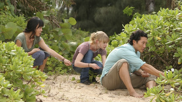 LOST - &quot;Par Avion&quot; - Claire becomes suspicious of Charlie when he exhibits peculiar behavior after she comes up with an idea that could get everybody rescued. Meanwhile, tensions mount between Sayid and Locke as they continue their trek to rescue Jack, on &quot;Lost,&quot; WEDNESDAY, MARCH 14 (10:00-11:00 p.m., ET), on the ABC Television Network. (ABC/MARIO PEREZ)YUNJIN KIM, EMILIE DE RAVIN, DANIEL DAE KIM
