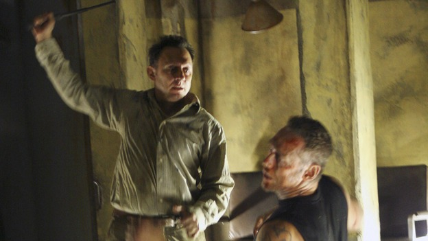 "LOST - ""Cabin Fever"" - Locke is enlightened as to the whereabouts of Jacob's cabin, and life aboard the freighter becomes perilous, on ""Lost,"" THURSDAY, MAY 8 (10:02-11:00 p.m., ET) on the ABC Television Network. (ABC/MARIO PEREZ)MICHAEL EMERSON, KEVIN DURAND"