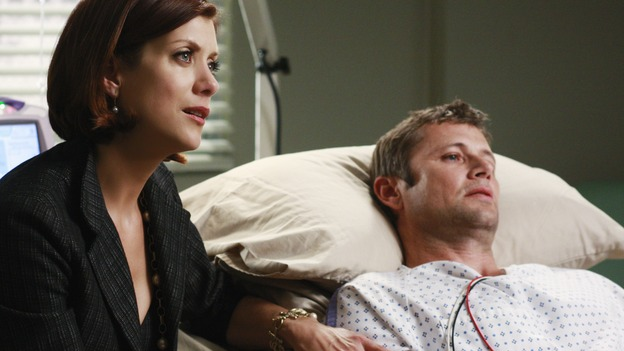 "GREY'S ANATOMY - ""Before and After"" - Addison and Archer Montgomery, on ""Grey's Anatomy,"" THURSDAY, FEBRUARY 12 (9:00-10:02 p.m., ET) on the ABC Television Network. (ABC/RON TOM) KATE WALSH, GRANT SHOW"
