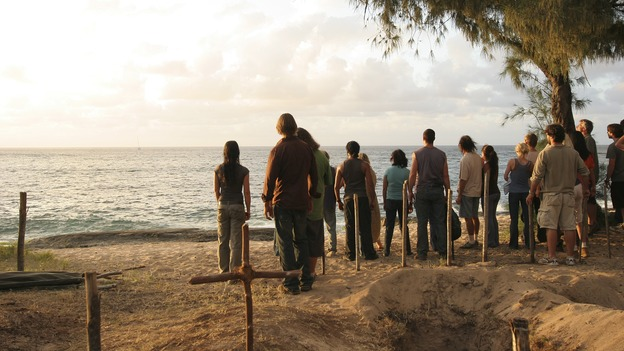 "LOST -- ""Three Minutes"" - A determined Michael convinces Jack and several castaways to help him rescue Walt from ""The Others."" Meanwhile, Charlie struggles with Eko's decision to discontinue building the church, on ""Lost,"" WEDNESDAY, MAY 17 (9:00-10:01 p.m., ET), on the ABC Television Network. (ABC/MARIO PEREZ)EVANGELINE LILY, JOSH HOLLOWAY, JORGE GARCIA, NAVEEN ANDREWS, MATTHEW FOX, EMILIE DE RAVIN, DOMINIC MONAGHAN, YUNJIN KIM, DANIEL DAE KIM"
