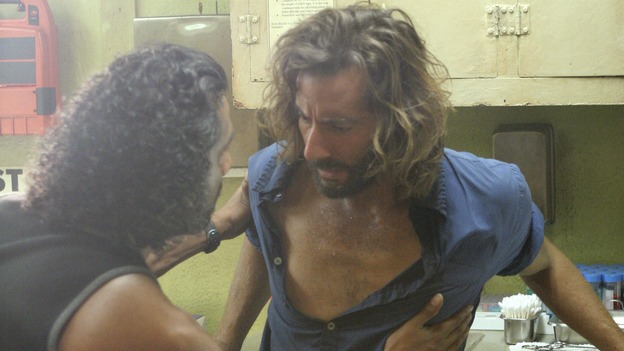 "LOST - ""The Constant"" - Sayid and Desmond hit a bit of turbulence on the way to the freighter, which causes Desmond to experience some unexpected side effects, on ""Lost,"" THURSDAY, FEBRUARY 28 (9:00-10:02 p.m., ET) on the ABC Television Network. (ABC/MARIO PEREZ) NAVEEN ANDREWS, HENRY IAN CUSICK"