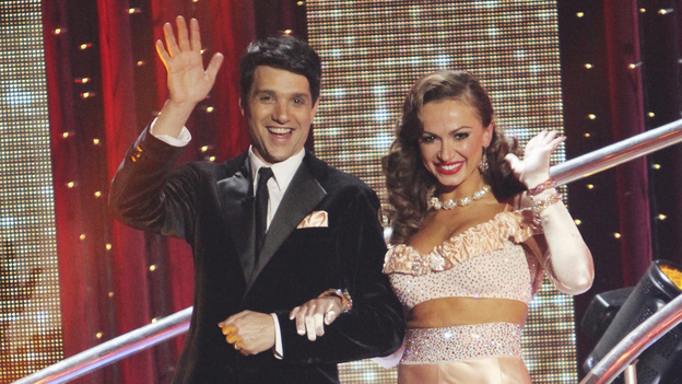 "DANCING WITH THE STARS - ""Episode 1201"" - A star-studded cast filled with celebrities across a variety of genres are set to compete each week on the dance floor. Performing either the Foxtrot or the Cha Cha Cha, all 11 couples danced for the first time on live national television in the spectacular two-hour season premiere of ""Dancing with the Stars,"" MONDAY, MARCH 21 (8:00-10:02 p.m., ET) on the ABC Television Network. (ABC/ADAM LARKEY)RALPH MACCHIO, KARINA SMIRNOFF"