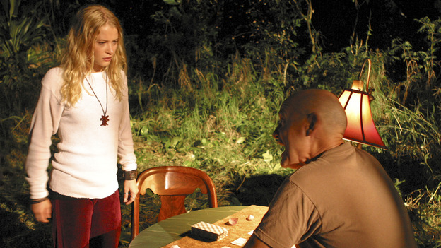 LOST - &quot;Raised By Another&quot; - Jack, Kate and Charlie wonder if Claire's disturbing nightmares might be coming true to threaten her life and the life of her unborn child, and a missing castaway returns with frightening news about what lies just beyond the mountains, on &quot;Lost,&quot; WEDNESDAY, DECEMBER 1 (8:00-9:01 p.m., ET), on the ABC Television Network. (ABC/MARIO PEREZ) EMILIE DE RAVIN, TERRY O'QUINN
