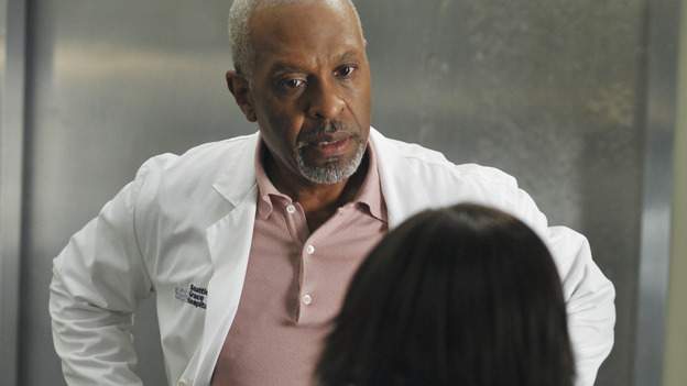 "GREY'S ANATOMY - ""Here Comes the Flood"" - The Chief doesn't respond well when Bailey warns him about a leak, on ""Grey's Anatomy,"" THURSDAY, OCTOBER 9 (9:00-10:01 p.m., ET) on the ABC Television Network. (ABC/ERIC McCANDLESS) JAMES PICKENS JR., CHANDRA WILSON"