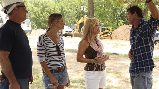 EXTREME MAKEOVER: HOME EDITION - &quot;Urban Family&quot; -- Trisha Urban of Hamburg, Pennsylvania suffered a terrible tragedy with the untimely death of her husband. Now she and her one-year-old daughter have an opportunity to turn the page on their past and open a new chapter in their lives in a home built on a foundation of joy, innocence and whimsy. By drawing upon classic fairy tales and rhymes, the &quot;Extreme Makeover: Home Edition&quot; design team rebuilt their crumbling, 300-year-old log cabin and farm and transformed it into the dream home that Trisha and her late husband, Andy, had once hoped for. Celebrity volunteer and supermodel Christie Brinkley helped in the build and participated in a fundraiser at an American Heart Association event honoring Trisha's husband. This episode of &quot;Extreme Makeover: Home Edition&quot; airs SUNDAY, OCTOBER 24 (8:00-9:00 p.m., ET) on the ABC Television Network. (ABC/KEN WHITE)PAUL DIMEO, TRACY HUSTON, LEIGH ANNE TUOHY, TY PENNINGTON