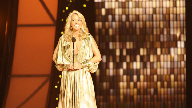 "THE 45th ANNUAL CMA AWARDS - THEATRE - ""The 45th Annual CMA Awards"" broadcast live on ABC from the Bridgestone Arena in Nashville on WEDNESDAY, NOVEMBER 9 (8:00-11:00 p.m., ET). (ABC/KATHERINE BOMBOY-THORNTON)CARRIE UNDERWOOD"