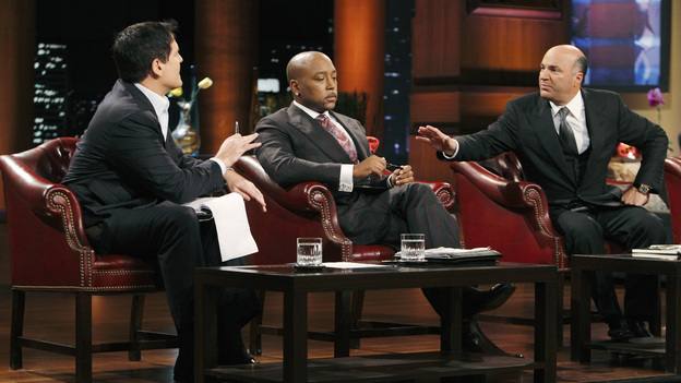 "SHARK TANK - ""Episode 202"" - Season Two of ""Shark Tank"" promises to make TV history with the Sharks offering over $10 million in investment deals to bankroll a creative array of innovative entrepreneurs. This season, high tech billionaire entrepreneur Mark Cuban and successful comedian and self-made businessman Jeff Foxworthy jump into the Tank to appear separately in the show's nine episodes. The Season Premiere, ""Episode 202,"" airs FRIDAY, MARCH 25 (8:00-9:00 p.m., ET) on ABC. (ABC/CRAIG SJODIN)MARK CUBAN, DAYMOND JOHN, KEVIN O'LEARY"
