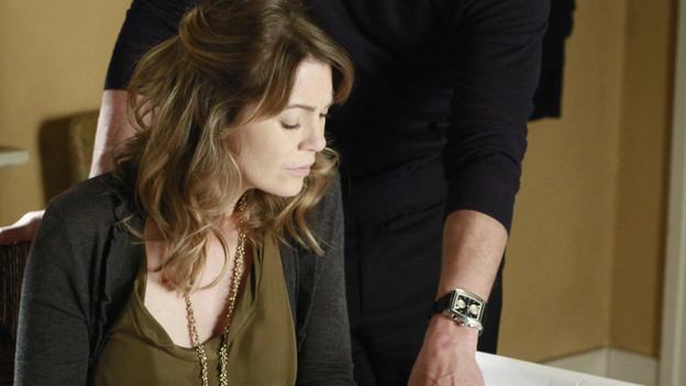 "GREY'S ANATOMY - ""Not Responsible"" - Meredith must choose between her fertility treatments and her eyesight when she begins having trouble seeing, Mark makes it clear to Callie and Arizona that he takes his role as father-to-be very seriously, and April discovers there's more to Dr. Stark than first appears, on ""Grey's Anatomy,"" THURSDAY, FEBRUARY 24 (9:00-10:01 p.m., ET) on the ABC Television Network. (ABC/RON TOM)ELLEN POMPEO, PATRICK DEMPSEY"