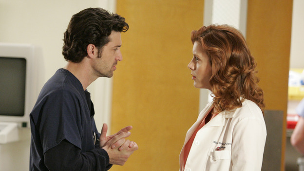 "102468_7345 -- GREY'S ANATOMY - ""RAINDROPS KEEP FALLING ON MY HEAD"" (ABC/CRAIG SJODIN)PATRICK DEMPSEY, KATE WALSH"