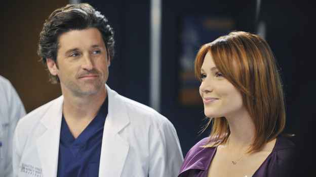 "GREY'S ANATOMY - ""Suddenly"" - A severe car crash involving an entire family results in an all-hands-on situation in the ER, as the eldest daughter is left to make the toughest decision of her life. Meanwhile Teddy, still in the dark about Henry's death, calls upon Cristina to help with her patient in the O.R., and Lexie finds herself working alongside Mark's new girlfriend, Julia, during an eye surgery on Grey's Anatomy, THURSDAY, JANUARY 5 (9:00-10:02 p.m., ET) on the ABC Television Network. (ABC/RICHARD FOREMAN)PATRICK DEMPSEY, HOLLEY FAIN"