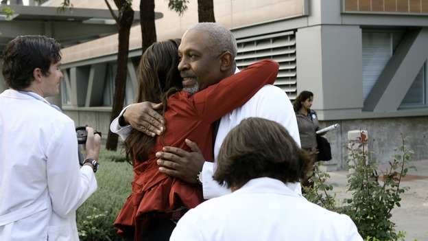 "GREY'S ANATOMY - ""Piece of My Heart"" - Addison returns to Seattle Grace to perform an operation and is taken aback by all of the changes in her old co-workers' lives. Meanwhile Meredith and Derek's clinical trial has its first patient, and Rebecca/Ava returns with shocking news for Alex, on ""Grey's Anatomy,"" THURSDAY, MAY 1 (9:00-10:01 p.m., ET) on the ABC Television Network.  (ABC/SCOTT GARFIELD)KATE WALSH, JAMES PICKENS JR."