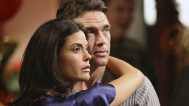 "DESPERATE HOUSEWIVES - ""The Little Things You Do Together"" - Ian and Susan look on as Zach declares his love for Gaby, on ""Desperate Housewives,"" SUNDAY, FEBRUARY 18 (9:00-10:03 p.m., ET) on the ABC Television Network. (ABC/DANNY FELD) TERI HATCHER, DOUGRAY SCOTT"
