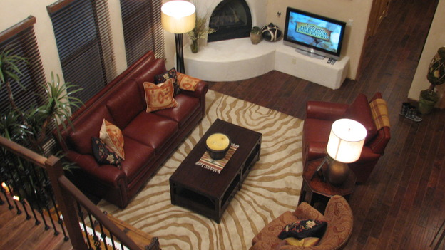 EXTREME MAKEOVER HOME EDITION - &quot;Martinez Family,&quot; - Living Room, on &quot;Extreme Makeover Home Edition,&quot; Sunday, April 27th on the ABC Television Network.