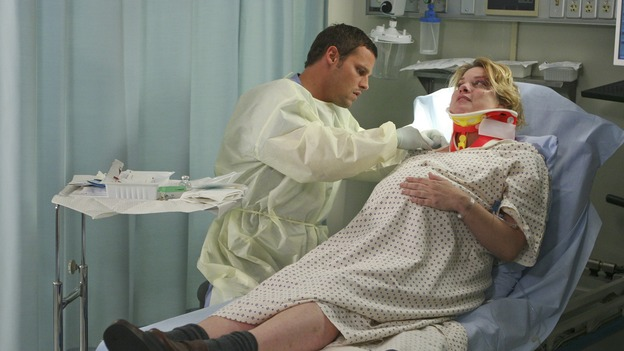 GREY'S ANATOMY - &quot;INTO YOU LIKE A TRAIN&quot; (ABC/MICHAEL DESMOND)JUSTIN CHAMBERS, CYNTHIA ETTINGER