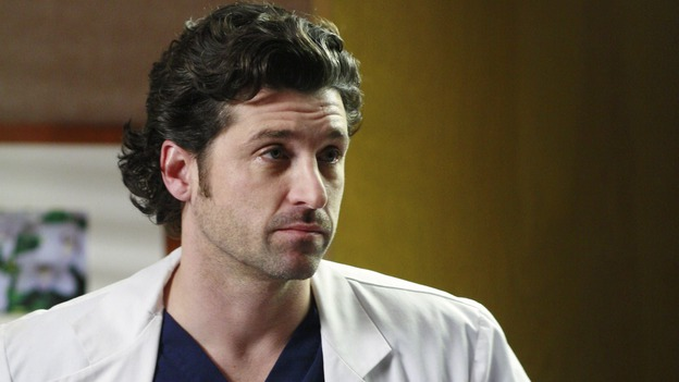"GREY'S ANATOMY - ""Scars and Souvenirs"" - The race for chief heats up after a new competitor enters the fray, tensions escalate between Izzie and George, and Callie must reveal a big secret. Meanwhile, Derek treats a patient near and dear to him, while Alex continues his work with Jane Doe, on ""Grey's Anatomy,"" THURSDAY, MARCH 15 (9:00-10:01 p.m., ET) on the ABC Television Network. (ABC/RON TOM)PATRICK DEMPSEY"