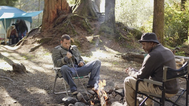"GREY'S ANATOMY - ""Where the Boys Are"" - The men of Seattle Grace go on a camping trip together, Addison and Callie must team up to work on a patient, Meredith assists Sloan with a procedure unlike any she has experienced, and, suspicious of her recent actions at the hospital, Bailey confronts Cristina, on ""Grey's Anatomy,"" THURSDAY, NOVEMBER 9 (9:00-10:01 p.m., ET) on the ABC Television Network. (ABC/CRAIG SJODIN)JUSTIN CHAMBERS, JAMES PICKENS, JR."