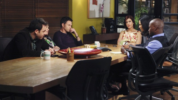 PRIVATE PRACTICE - &quot;Yours, Mine and Ours&quot; - As Violet chooses between Pete and Sheldon, a grief-stricken patient poses a danger to her; Addison faces her feelings for Noah as Morgan goes into labor; Dell has concerns for his daughter when a drugged-out Heather returns to town; and Naomi must decide if it's in her best interest to stay with Oceanside Wellness or start anew at Pacific Wellcare, on &quot;Private Practice,&quot; THURSDAY, APRIL 30 (10:02-11:00 p.m., ET) on the ABC Television Network. (ABC/KAREN NEAL) PAUL ADELSTEIN, AMY BRENNEMAN (OBSCURED), TIM DALY, KATE WALSH, AUDRA MCDONALD, TAYE DIGGS