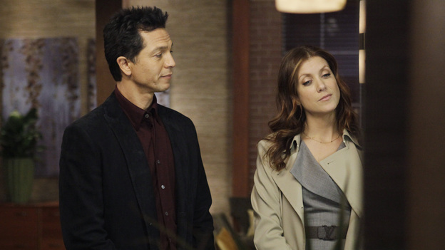 "PRIVATE PRACTICE - ""Andromeda"" - Sam tries to take care of his sister, Corinne, but her mental condition makes that nearly impossible; Sheldon learns that Amelia has life-changing news; the flirtation between Addison and Jake continues, and Cooper rejects Charlotte's suggestion to seek outside help with Erica's care, on ""Private Practice,"" THURSDAY FEBRUARY 23 (10:01-11:00 p.m., ET) on the ABC Television Network.  (ABC/KELSEY MCNEAL)BENJAMIN BRATT, KATE WALSH"