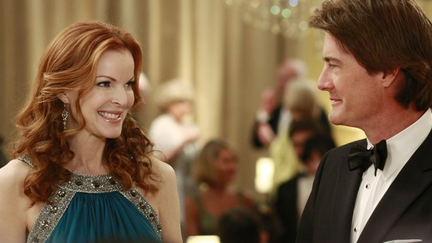 "DESPERATE HOUSEWIVES - ""In Buddy's Eyes"" -  Bree and Orson at the Founders Day Ball, on Desperate Housewives,"" SUNDAY, APRIL 20 (9:00-10:02 p.m., ET) on the ABC Television Network. (ABC/RON TOM) MARCIA CROSS, KYLE MACLACHLAN"