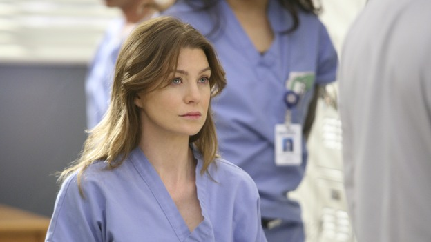 GREY'S ANATOMY - &quot;Great Expectations&quot; - While rumors of the Chief's departure spread among the hospital staff, Bailey proposes the creation of a free clinic, and a Seattle Grace doctor receives a proposal of a different sort, on &quot;Grey's Anatomy,&quot; THURSDAY, JANUARY 25 (9:00-10:01 p.m., ET) on the ABC Television Network. (ABC/DANNY FELD)ELLEN POMPEO